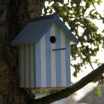 Nichoir cabine de plage bleu pastel