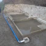 Installation des regards et tuyaux d'évacuation d'eau