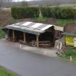 Mardi 24 mars: la pluie oblige à bâcher le chantier...à suivre