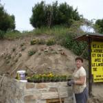 Maryse va planter quelques fleurs