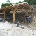 Nettoyage du mur et des bassins