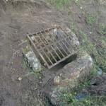La prise d'eau découverte avant travaux