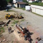 Lundi 5 juillet 2021: sciage des chênes
